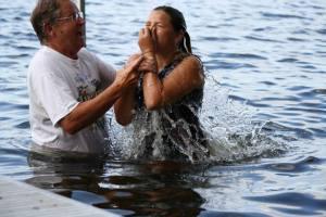 Greta Baptism water