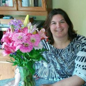 me and birthday flowers