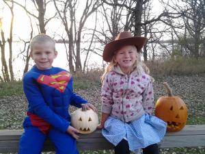 Henry and Carlie pumpkns