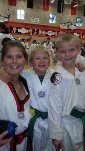kids at tkd tournament